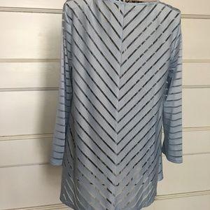 Marla Wynne Tops Long Sleeve Pale Blue Top Tunic Sz Xs